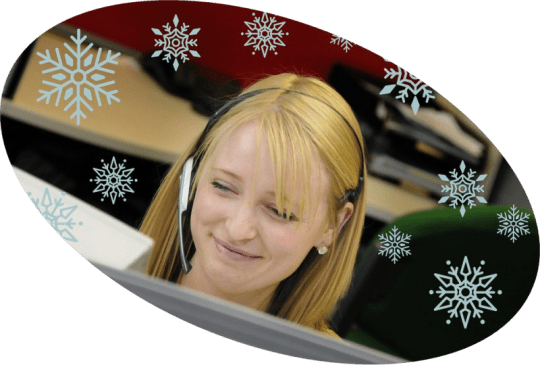 service desk at Christmas